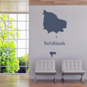 "Wandtattoo ""Norfolkinseln"""