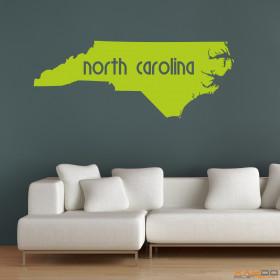 "Wandtattoo ""North Carolina"""