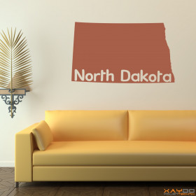 "Wandtattoo ""North Dakota"""