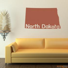"Wandtattoo ""North Dakota"""
