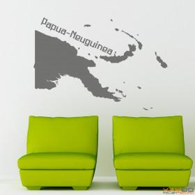 "Wandtattoo ""Papua-Neuguinea"""