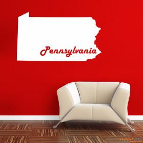 """Wandtattoo """"Pensylvania"""""""