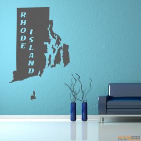 "Wandtattoo ""Rhode Island"""