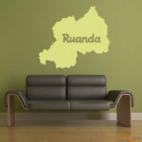 """Wandtattoo """"Ruanda"""""""