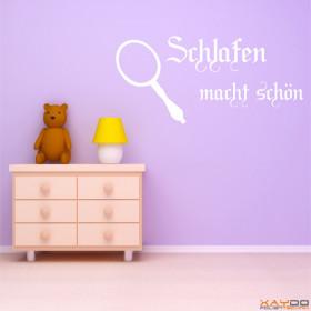 """Wandtattoo """"Schlafen macht schön"""""""