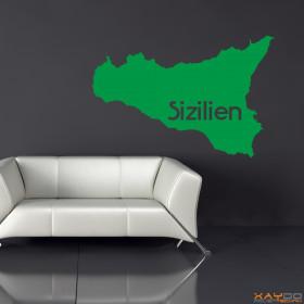 "Wandtattoo ""Sizilien"""