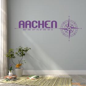 """Wandtattoo """"Stadt Aachen"""""""