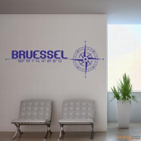 "Wandtattoo ""Stadt Brüssel"""