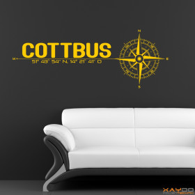 """Wandtattoo """"Stadt Cottbus"""""""