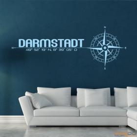 """Wandtattoo """"Stadt Darmstadt"""""""