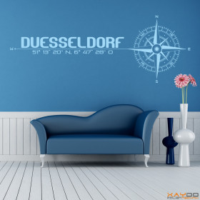 """Wandtattoo """"Stadt Düsseldorf"""""""