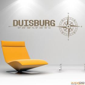 """Wandtattoo """"Stadt Duisburg"""""""
