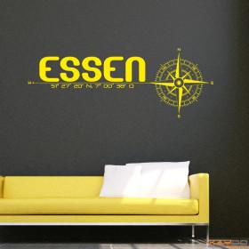 """Wandtattoo """"Stadt Essen"""""""