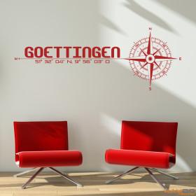 "Wandtattoo ""Stadt Göttingen"""