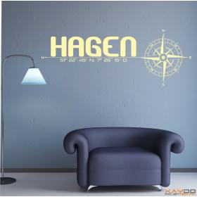 "Wandtattoo ""Stadt Hagen"""