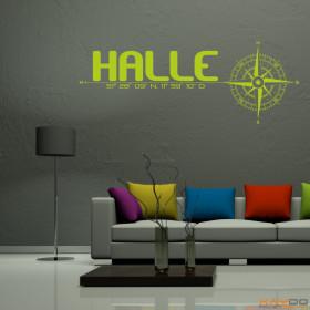 """Wandtattoo """"Stadt Halle"""""""
