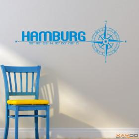 "Wandtattoo ""Stadt Hamburg"""