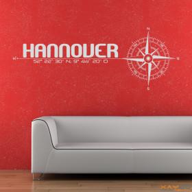 "Wandtattoo ""Stadt Hannover"""