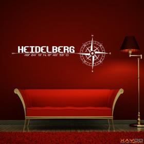 """Wandtattoo """"Stadt Heidelberg"""""""