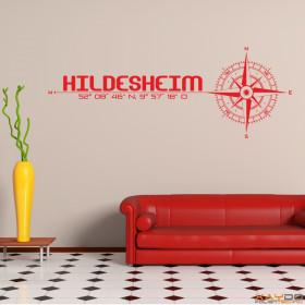 """Wandtattoo """"Stadt Hildesheim"""""""