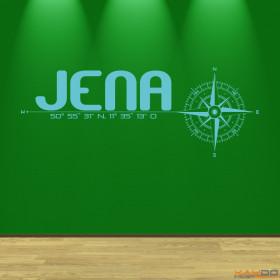 """Wandtattoo """"Stadt Jena"""""""