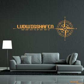 """Wandtattoo """"Stadt Ludwigshafen"""""""