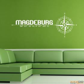 "Wandtattoo ""Stadt Magdeburg"""