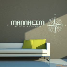 "Wandtattoo ""Stadt Mannheim"""