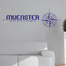 """Wandtattoo """"Stadt Münster"""""""