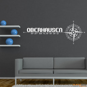 """Wandtattoo """"Stadt Oberhausen"""""""