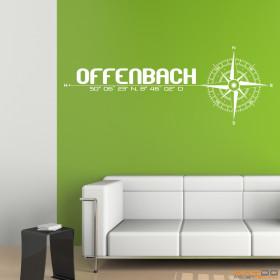 """Wandtattoo """"Stadt Offenbach"""""""