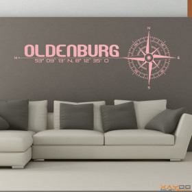 "Wandtattoo ""Stadt Oldenburg"""