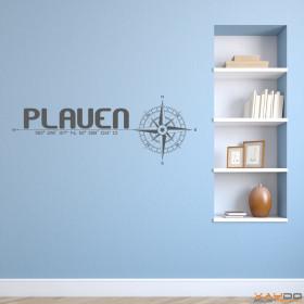 wandtattoo stadtviertel plauen. Black Bedroom Furniture Sets. Home Design Ideas