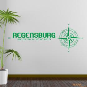 "Wandtattoo ""Stadt Regensburg"""