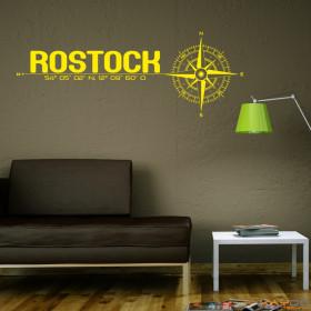 "Wandtattoo ""Stadt Rostock"""