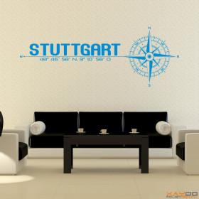"""Wandtattoo """"Stadt Stuttgart"""""""