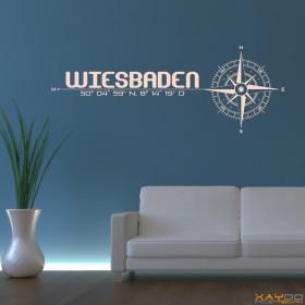 """Wandtattoo """"Stadt Wiesbaden"""""""