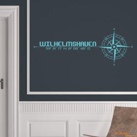 """Wandtattoo """"Stadt Wilhelmshaven"""""""