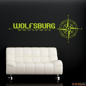 """Wandtattoo """"Stadt Wolfsburg"""""""