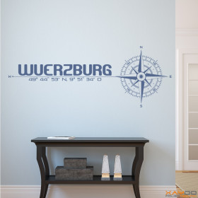 """Wandtattoo """"Stadt Würzburg"""""""