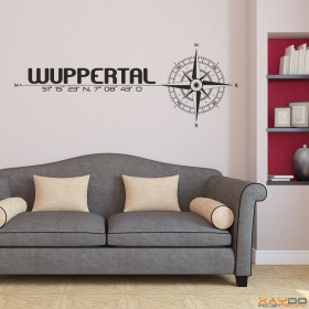 """Wandtattoo """"Stadt Wuppertal"""""""
