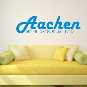 """Wandtattoo """"Stadtname Aachen"""""""
