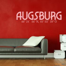 "Wandtattoo ""Stadtname Augsburg"""