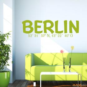 "Wandtattoo ""Stadtname Berlin"""