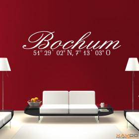 "Wandtattoo ""Stadtname Bochum"""