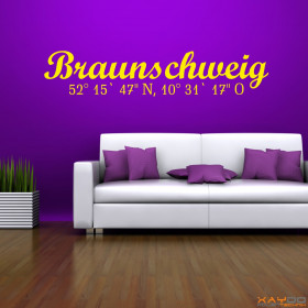 "Wandtattoo ""Stadtname Braunschweig"""