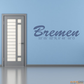 "Wandtattoo ""Stadtname Bremen"""
