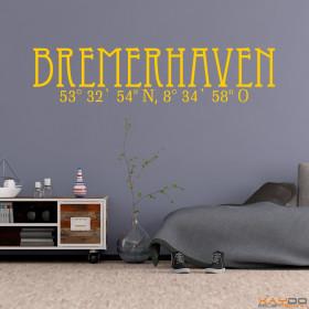 "Wandtattoo ""Stadtname Bremerhaven"""