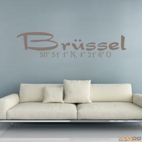 "Wandtattoo ""Stadtname Brüssel"""