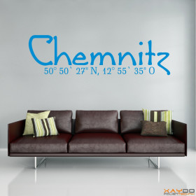 "Wandtattoo ""Stadtname Chemnitz"""